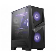 MSI MAG FORGE 100M (ATX) MID TOWER CABINET WITH TEMPERED GLASS SIDE PANEL AND RGB CONTROLLER (BLACK) MAG-FORGE-100M