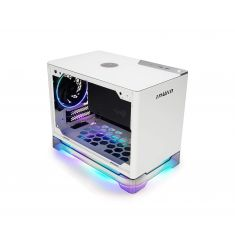 InWin A1 Plus White Mini-ITX Tower with Integrated ARGB Lighting - 650W Gold Power Supply - Qi Wireless Phone Charger - Computer Chassis Case
