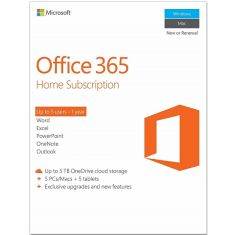 Microsoft Office 365 Home 5 PCs/MAC 1Year Subscriptions