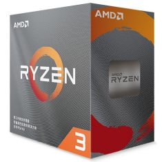 AMD Ryzen 3 3100 3rd Generation AM4 Socket Desktop Processor 4 Cores, Up to 3.9GHz, 18MB Cache, Wraith Stealth Cooling Solution main image