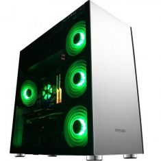 JONSBO C4 (ATX) Mid Tower Cabinet - With Tempered Glass Side Panel (Silver)