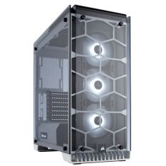 CORSAIR 570X RGB (ATX) Mid Tower Cabinet - With Tempered Glass Side Panel And RGB Fan Controller, White ( CC-9011110-WW )