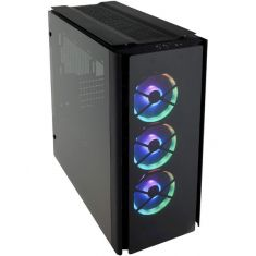 CORSAIR 500D RGB SE (ATX) Mid Tower Cabinet - With Tempered Glass Side Panel And RGB Lighting And Fan Controller, Black ( CC-9011139-WW )