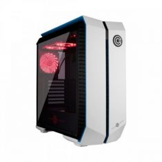 CIRCLE INFERNOVA Z GAMING (ATX) MID TOWER CABINET WITH TEMPERED GLASS SIDE PANEL AND RGB FAN CONTROLLER (WHITE-BLUE)