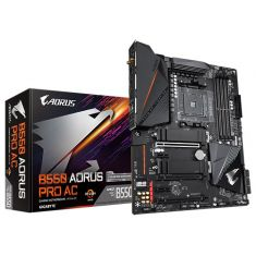 Gigabyte B550 AORUS PRO AC ( Wi-Fi ) ATX Motherboard ( AMD AM4 Socket, For Ryzen 3rd Gen CPU, 4 RAM Slots, Max 128GB RAM Support ) main image