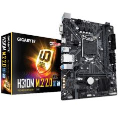 Gigabyte H310M M.2 2.0 Micro ATX Motherboard ( Intel Socket 1151, For Intel 9th and 8th Generation Core Series CPU, Max 32GB DDR4 2666MHz Memory )