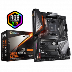 Gigabyte X570 AORUS ULTRA ATX Motherboard ( AMD AM4 Socket, For Ryzen Series CPU, 4 RAM Slots, Max 128GB RAM Support )
