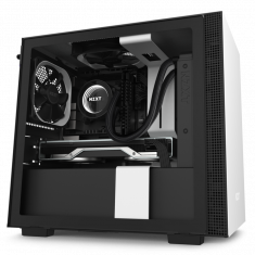 NZXT H210 Mini ITX White/ Black Chassis with 2x120mm Aerf Case Fans  ( CA- H210B-W1 )