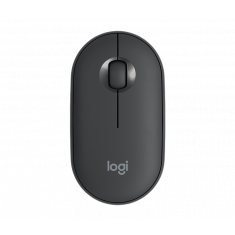 LOGITECH PEBBLE M350 Graphite Modern, Slim, and Silent Wireless and Bluetooth Mouse main image