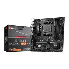 MSI B450M Bazooka Max Wifi M-ATX Motherboard ( AMD AM4 Socket, For Ryzen Series CPU, 4 RAM Slots, Max 128 GB Memory Up to 4133 MHz )