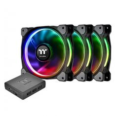 THERMALTAKE RIING PLUS 12 RGB TT PREMIUM EDITION - 120MM CABINET FAN WITH RGB CONTROLLER (TRIPPLE PACK) CL-F053-PL12SW-A