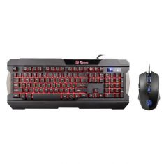 THERMALTAKE TT ESPORTS GAMING KEYBOARD MOUSE COMBO COMMANDER MULTI LIGHT KB-CCM-PLBLUS-01