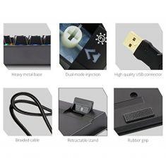 KEYBOARD ZEBRONICS MAX USB MECHANICAL MULTICOLOR LED