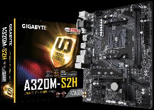 Gigabyte  GA-A320M-S2H Micro ATX Motherboard ( AMD AM4 Socket, For Ryzen and Athlon Series CPU, 2 RAM Slots, Max 32GB RAM Support )