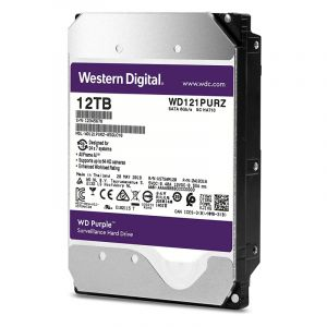 Western Digital Purple 12TB 7200 RPM Surveillance Desktop Internal Hard Disk Drive ( WD121PURZ )