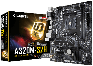 Gigabyte GA-A320M-S2H Micro ATX Motherboard ( AMD AM4 Socket, For Ryzen and Athlon Series CPU, 2 RAM Slots, Max 32GB RAM Support ) main image