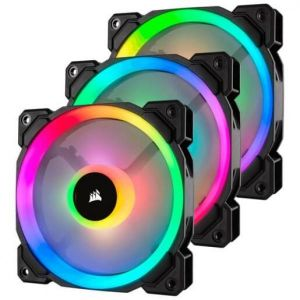 CORSAIR LL120 RGB - 120MM PWM CABINET FAN WITH LIGHTING NODE PRO CO-9050072-WW (TRIPPLE PACK)