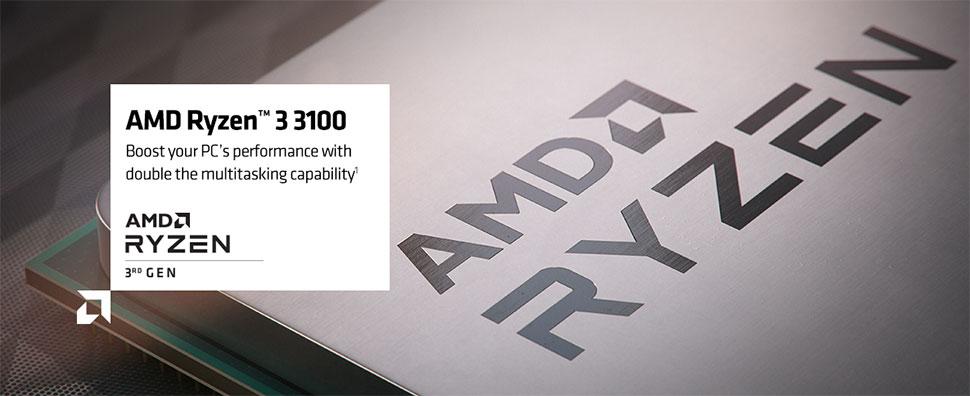 amd ryzen 3 3100 desktop processor banner
