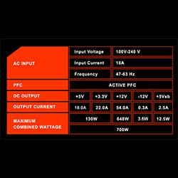 gigabyte psu b700h single 12v rail
